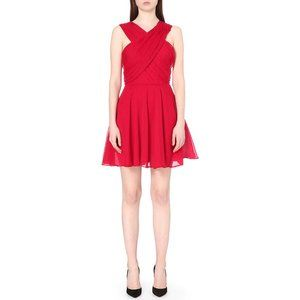 The Kooples Crossover-Neck Crepon Dress